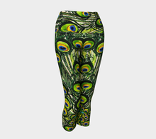 Load image into Gallery viewer, Peacock Feather Yoga Capris