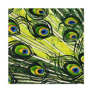 Peacock Feathers Cloth Napkins