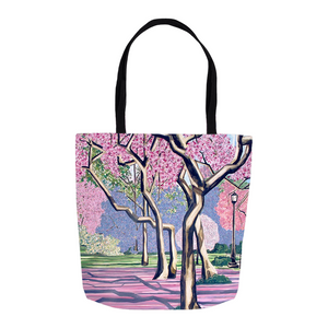 Cherry Blossoms Tote Bags