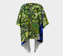 Load image into Gallery viewer, Peacock Draped Kimono