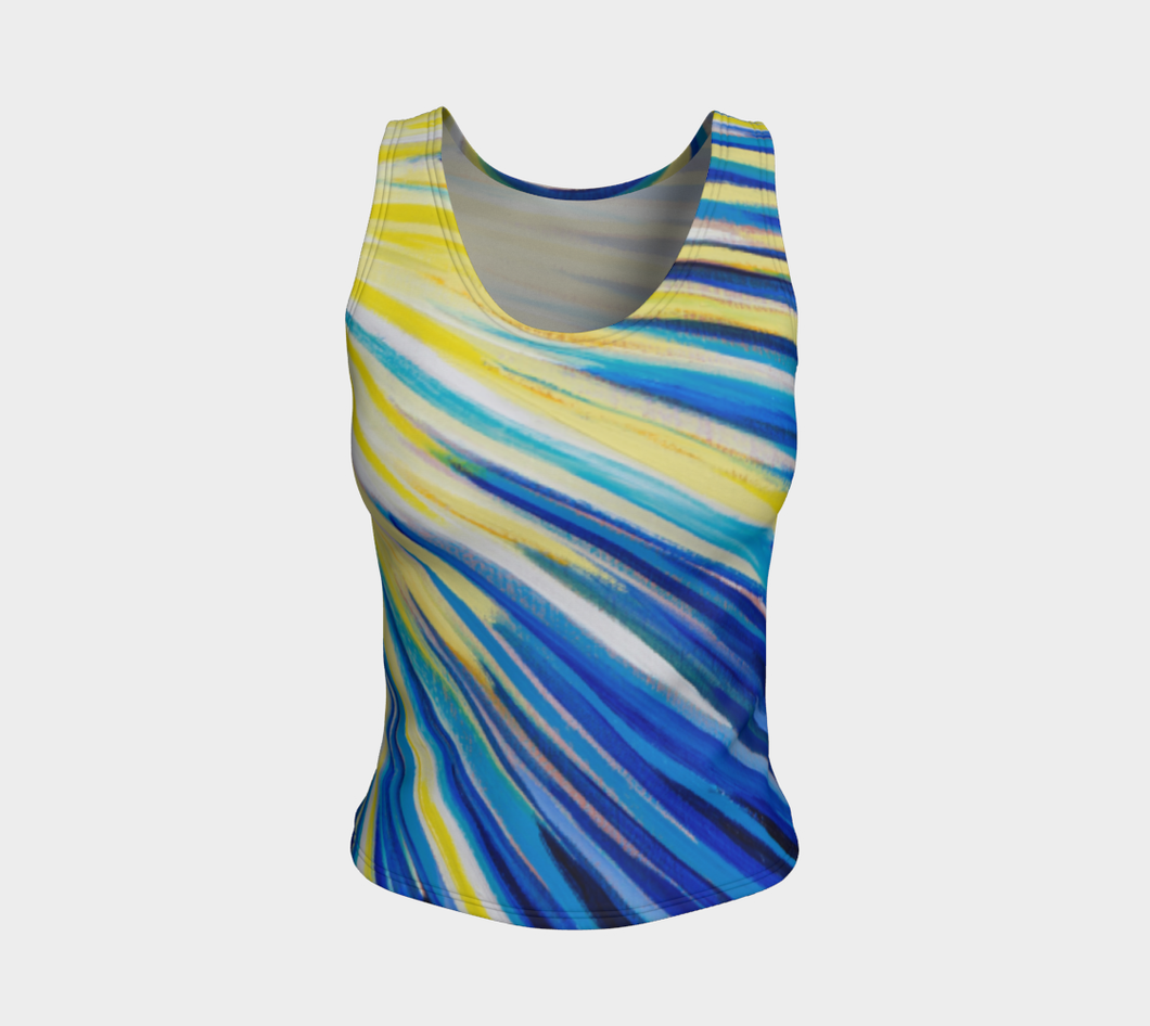 Because of You Blue Fitted Tank Top Regular Fit