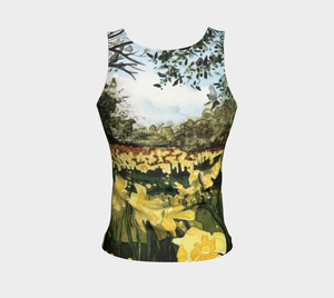 Sun Gardens Daffodil Fitted Tank Top: Regular Fit