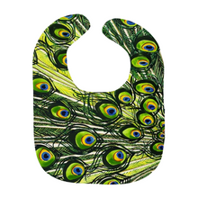 Load image into Gallery viewer, Peacock Feather Baby Bibs