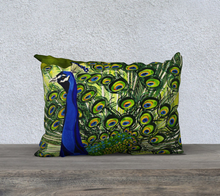 "Load image into Gallery viewer, Peacock 20"" x 14"" Pillowcase"