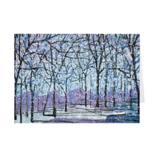 "Load image into Gallery viewer, Purple Snow 5"" x 7"" Folded Cards"