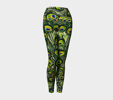 Load image into Gallery viewer, Peacock Feathers Yoga Leggings
