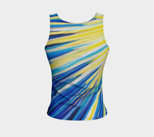 Load image into Gallery viewer, Because of You Blue Fitted Tank Top Regular Fit