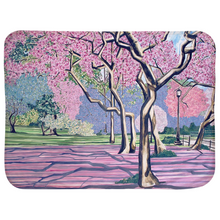 Load image into Gallery viewer, Cherry Blossoms Baby Sherpa Blankets (Infant Sizes)