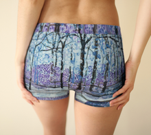 Load image into Gallery viewer, Purple Snow Boy Shorts
