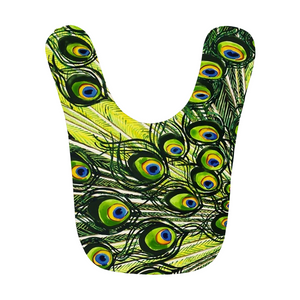 Peacock Feather Baby Bibs