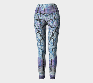 Purple Snow Yoga Leggings