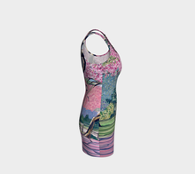 Load image into Gallery viewer, Cherry Blossoms Bodycon Dress