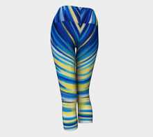 Load image into Gallery viewer, Because of You Blue Yoga Capri
