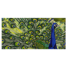 "Load image into Gallery viewer, Peacock Bath Towels: 30"" x 60"""