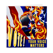 "Load image into Gallery viewer, VOTE! Your Voice Matters GOTV 5"" x 5"" Greeting Cards"