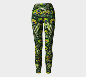 Peacock Feathers Yoga Leggings