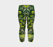 Load image into Gallery viewer, Peacock Feather Baby Leggings