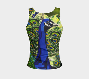 Peacock Tank Top: Regular Fit