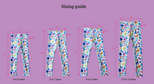 Load image into Gallery viewer, Cherry Blossom Youth Leggings Sizes for Age 4-12