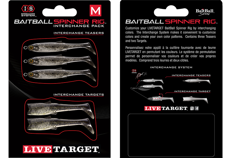 LIVETARGET BaitBall SR Interchange Pack Umbrella Rig Parts