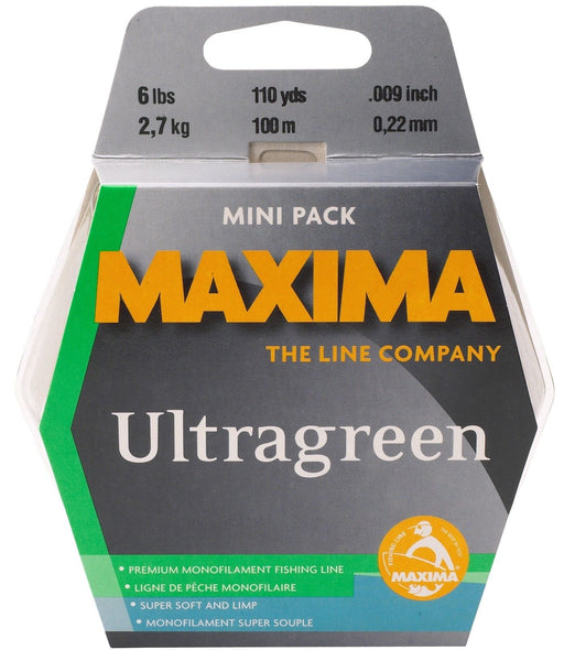 Maxima Ultragreen Copolymer Monofilament Mini Pack 110 Yards