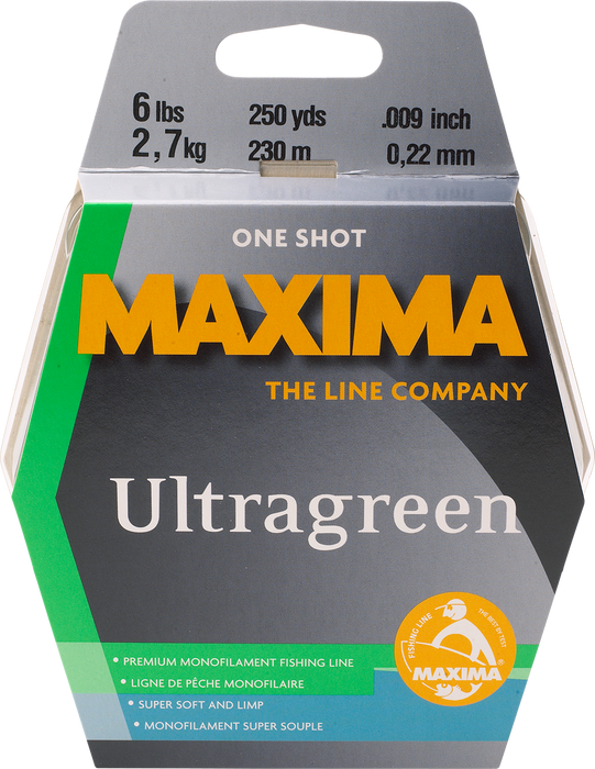 Maxima Ultragreen Copolymer Monofilament One Shot Spools