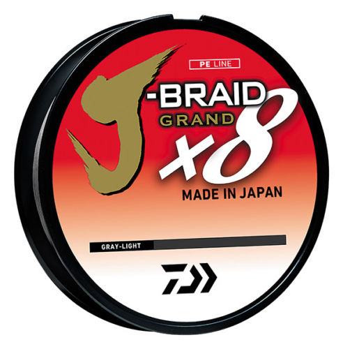 Daiwa J-Braid Grand x8 Gray Light Braided Line