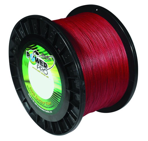Power Pro Spectra Vermilion Red Braided Line