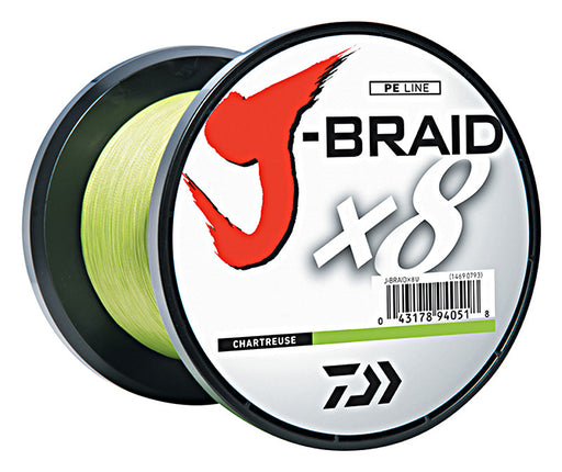 Daiwa J-Braid X8 Braided Line 1650 Yards Chartreuse