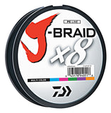 DAIWA J-BRAID X8 BRAIDED LINE 165 YARDS MULTI-COLOR