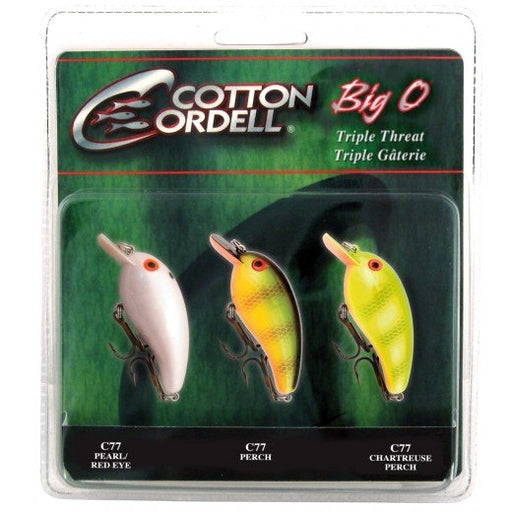 Cotton Cordell Big O Square-Lip Crankbait 3-Piece Variety Pack