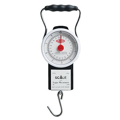 Berkley 50 pound Analog Fish Scale w/ 39 inch Measuring Tape
