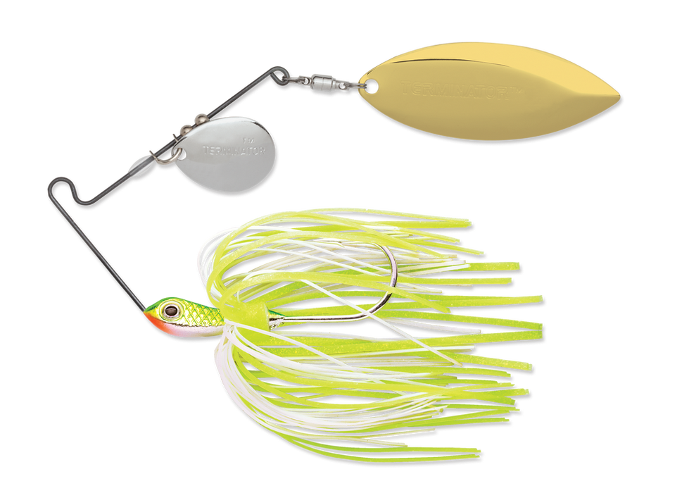 Chartreuse White Shad Nickel Gold