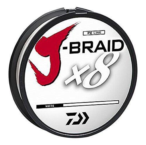 Daiwa J-Braid X8 Braided Line 330 Yards White