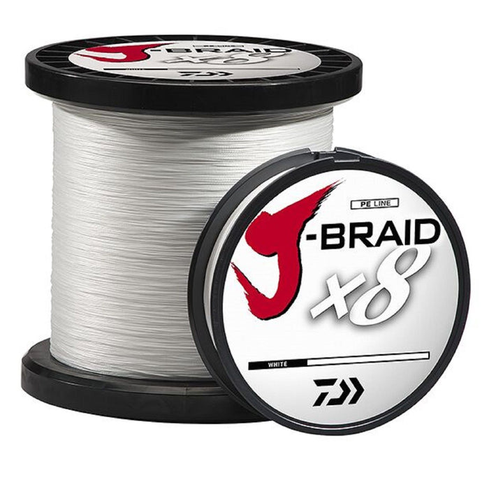 Daiwa J-Braid X8 Braided Line 550 Yards White