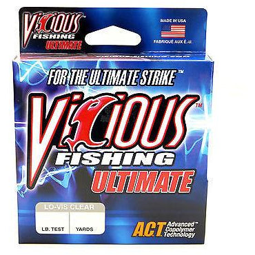 Vicious Ultimate Monofilament Fishing Line 250-330 Yards Clear