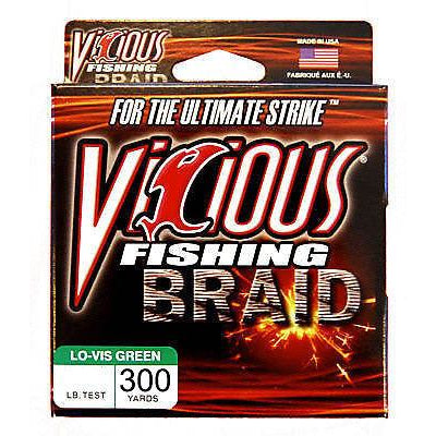 Vicious Braid Fishing Line Lo-Vis Green 300 Yards