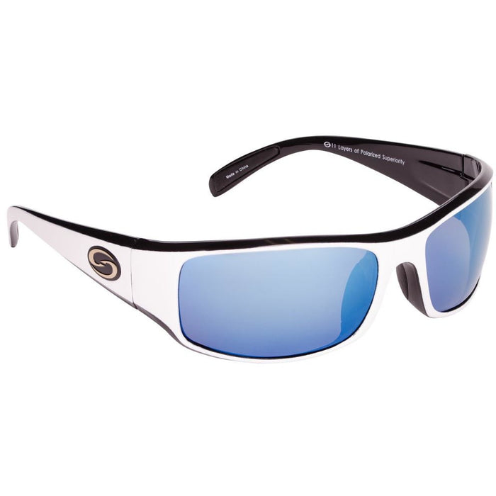 533-White Black Frame Blue Lens