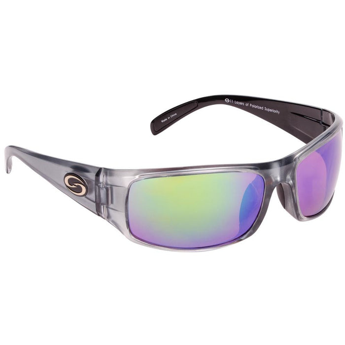 582-Clear Gray Frame Green Mirror Lens
