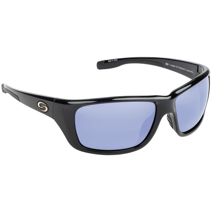 651-Black Frame Blue Mirror Lens
