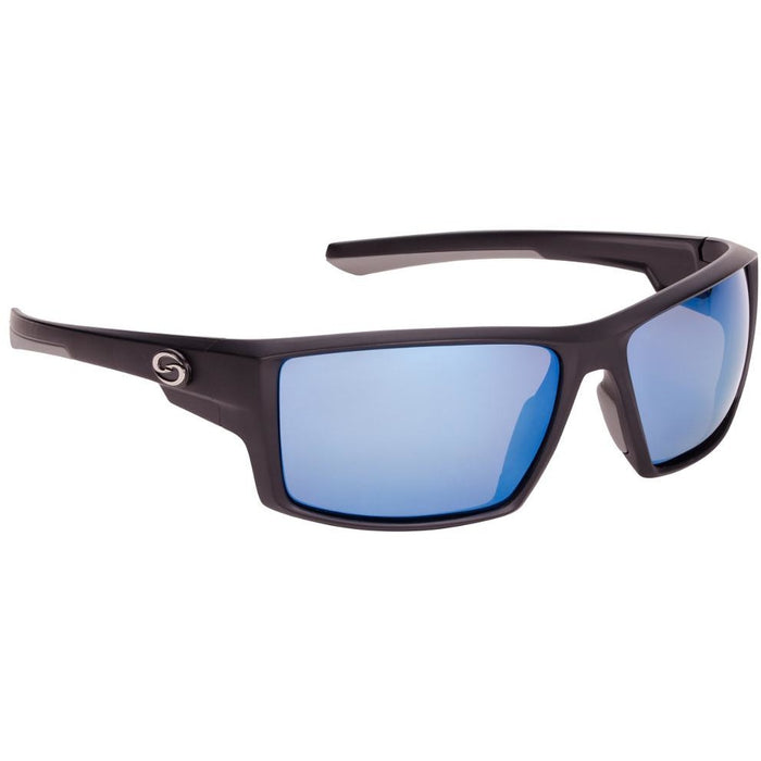91-Black Frame Blue Mirror Lens