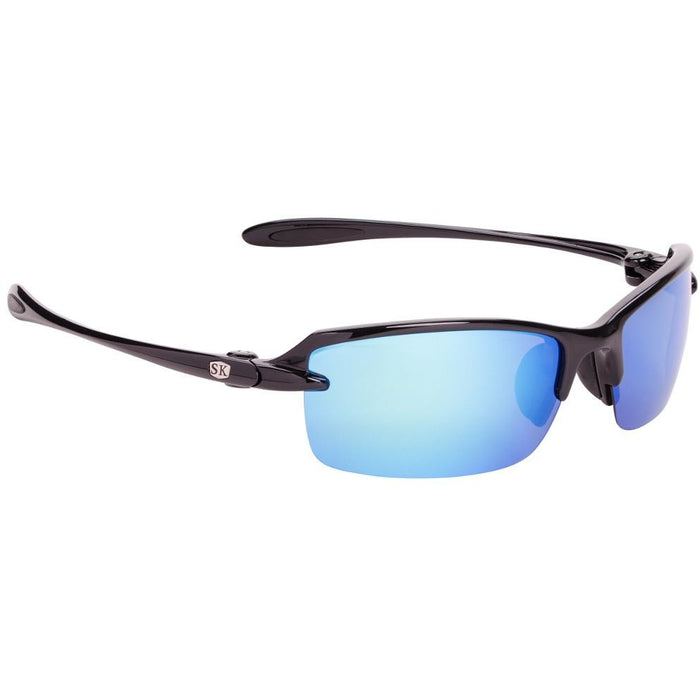 SG-SKP311-Shiny Black Frame Blue Mirror Lens