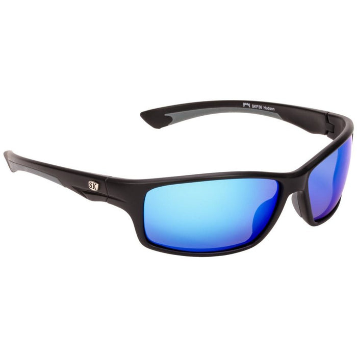 SG-SKP36 Matte Black/Grey Frame Revo Blue Mirror Grey Lens