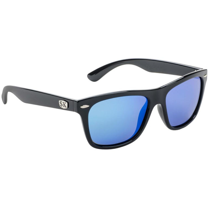 SG-SKP413-Shiny Black Frame Blue Mirror Lens