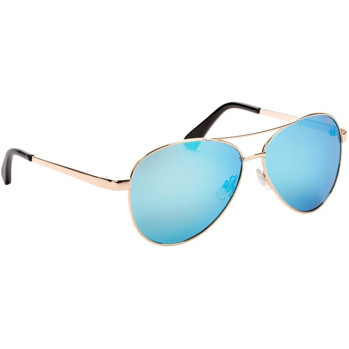 SG-SKP423-Shiny Gold Frame Blue Mirror Lens