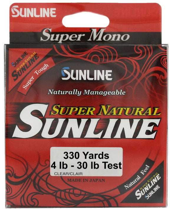 SUNLINE SUPER NATURAL MONOFILAMENT 330 YARDS