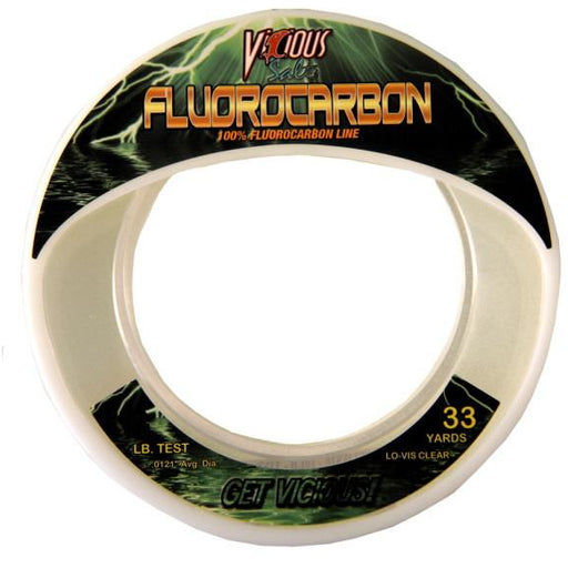 Vicious Salt Fluorocarbon Fishing Line 33 Yards
