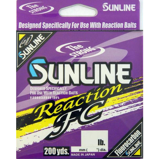 Sunline Reaction Fc Fluorocarbon 200 Yards