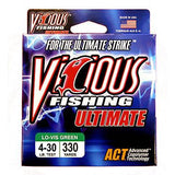 VICIOUS ULTIMATE MONOFILAMENT FISHING LINE 250-330 YARDS LO-VIS GREEN