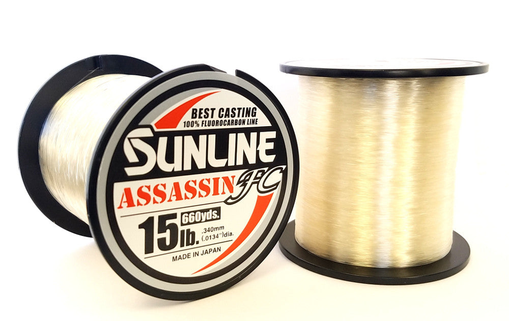 SUNLINE ASSASSIN FC FLUOROCARBON LINE CLEAR 660YD
